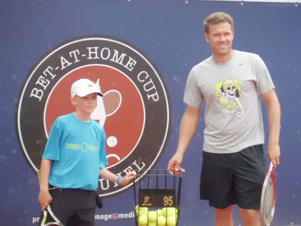 Tobias Mathis vom TC Hohenems mit deutschen Doppelspezialisten Alexander Waske.