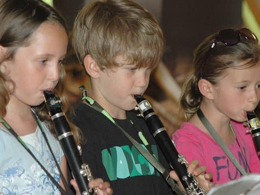 Die Musikschule präsentierte sich beim Musikschulfest.