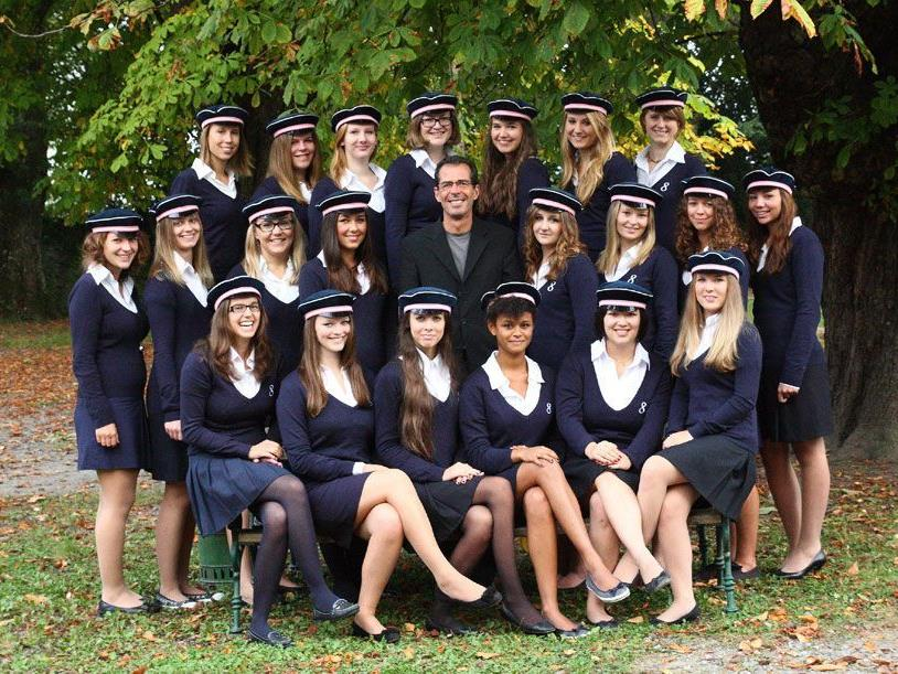 Die Maturanten der 8. Klasse des Sacré Coeur Riedenburg