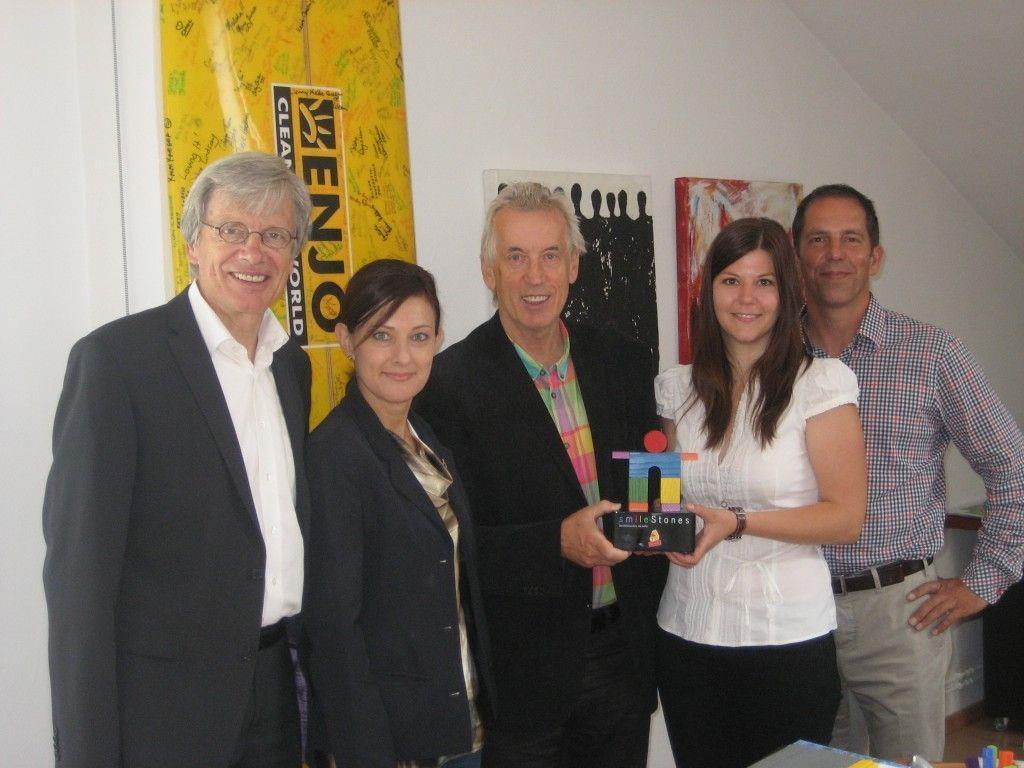 vlnr. Helmut Kopf, Bärbel Fend, Hubert Löffler, Sandra Winkler, Johannes Engl
