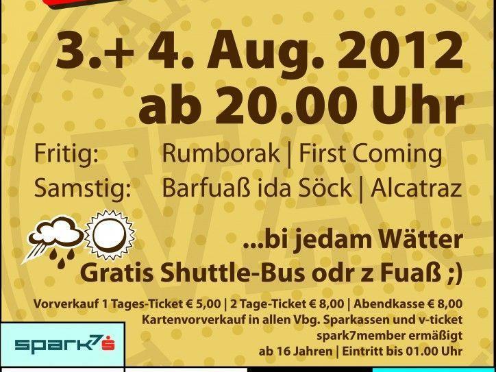 Vandanser Stebruchfäscht am 3. und 4. August