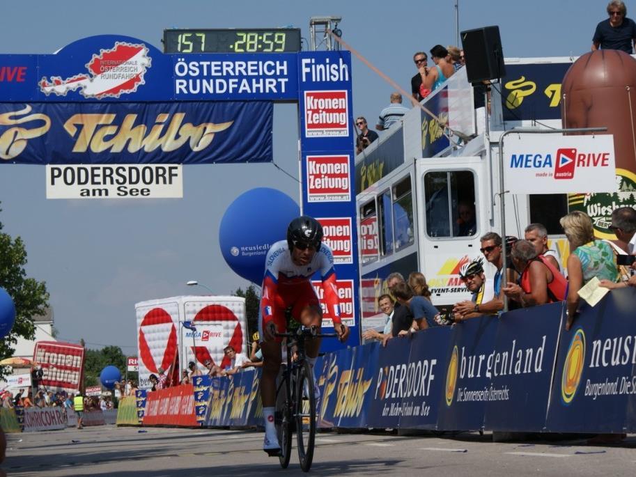 Robert Vrecer ist nach dem Zeitfahren in der Gesamtwertung der Ö-Tour nun Dritter.