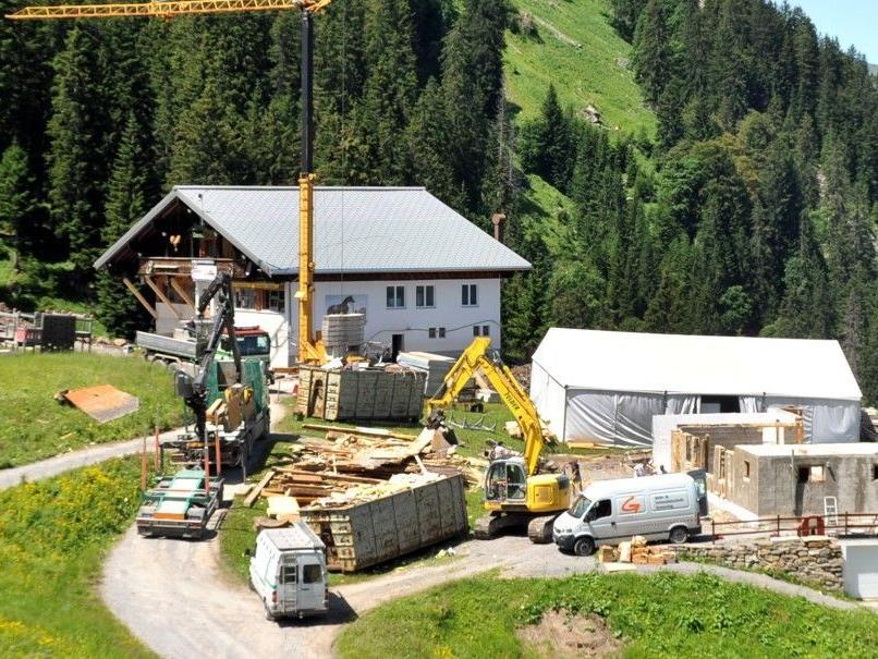 Das Bergrestaurant Simma und der Alphof Rossstelle werden derzeit umgebaut.