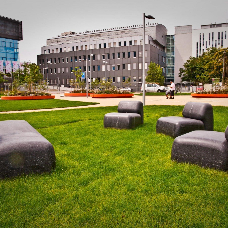 Der Robert-Hochner-Park ist das grüne Herz von Neu-Marx