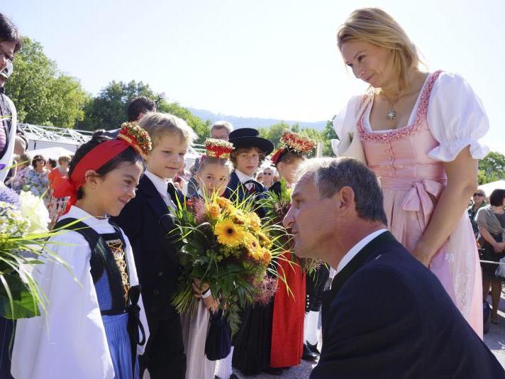 Der Bregenzer Bürgermeister Markus Linhart bei der Eröffnung der 67. Bregenzer Festspiele.
