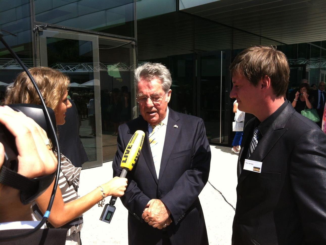 Bundespräsident Heinz Fischer im Interview mit VOL.AT.