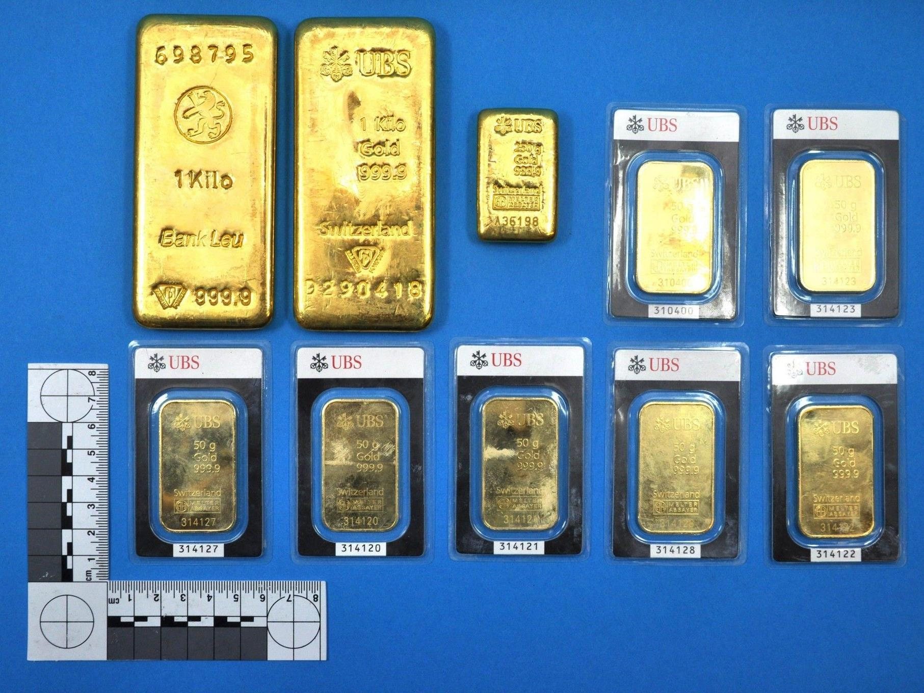 2,5 Kilogramm Gold lag in Wiese.