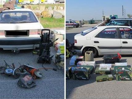 Bei einer verkehrskontrolle wurden die beiden Männer überführt, das Diebesgut sichergestellt.