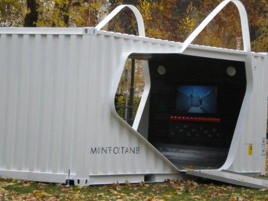 Der Montfortainer steht aktuell noch vor dem Montforthaus