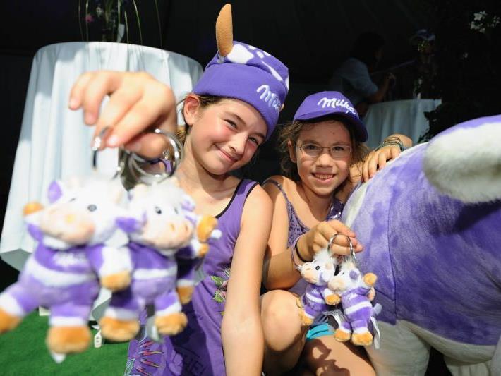 Im Mittelpunkt des Schokofests: Spiel und Spaß.