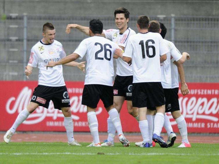 SC Bregenz jubelte über das 1:1, aber am Ende verlor die Posavec-Elf unglücklich und schied aus.