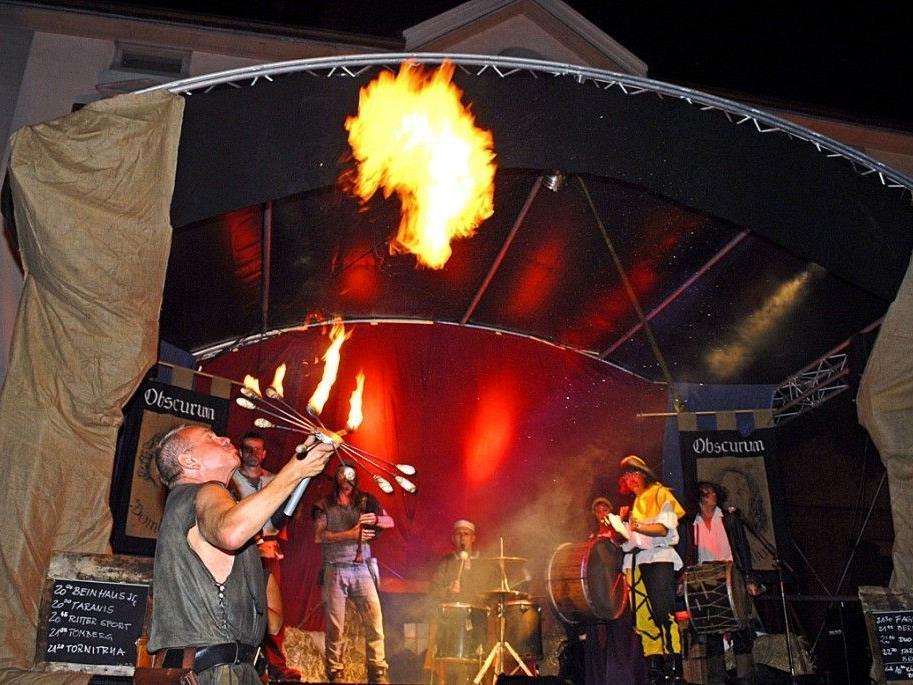 Der 2. Mittelaltermarkt in Schruns dauert noch bis Sonntag, dem 19. August 2012.