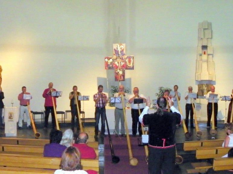 Schlusskonzert der Teilnehmer des Alphornseminars