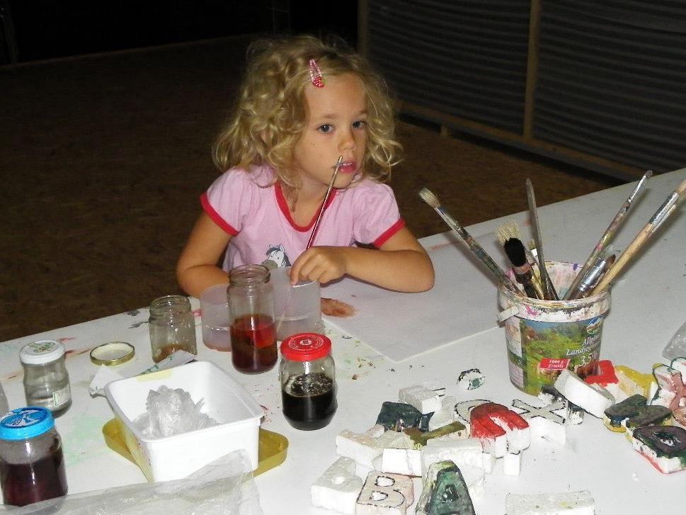 Hannah hat schon viele Ideen für ihr Kunstwerk