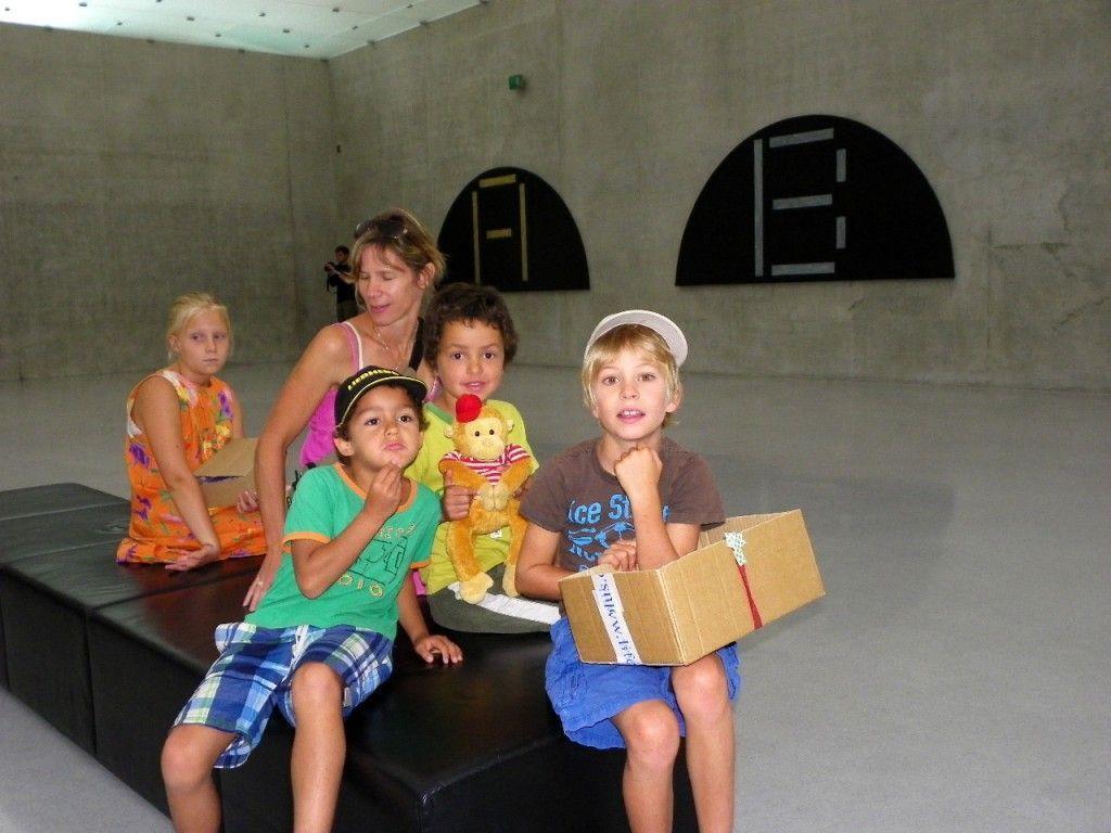 Teo, Toni, Elias und Marguerite besuchten das Kunsthaus