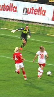 Damenfussball war in Altach angesagt