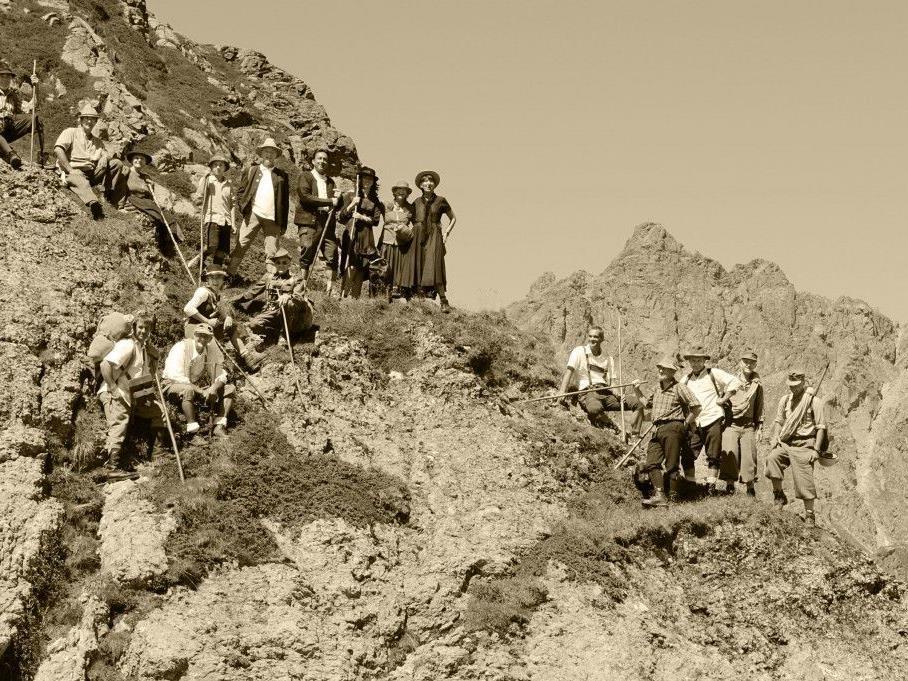 So sind wohl die Gründerväter der Madrisa Rundtour in den Montafoner Bergen unterwegs gewesen.