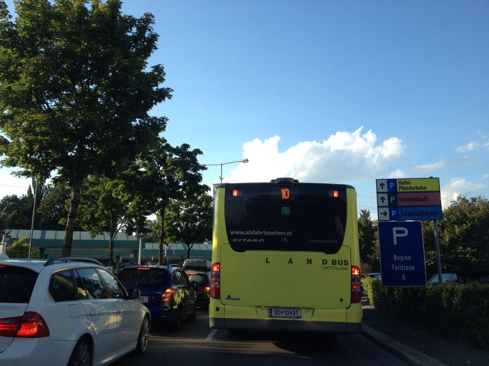 Im Bregenzer Stadtgebiet staute es sich wieder.