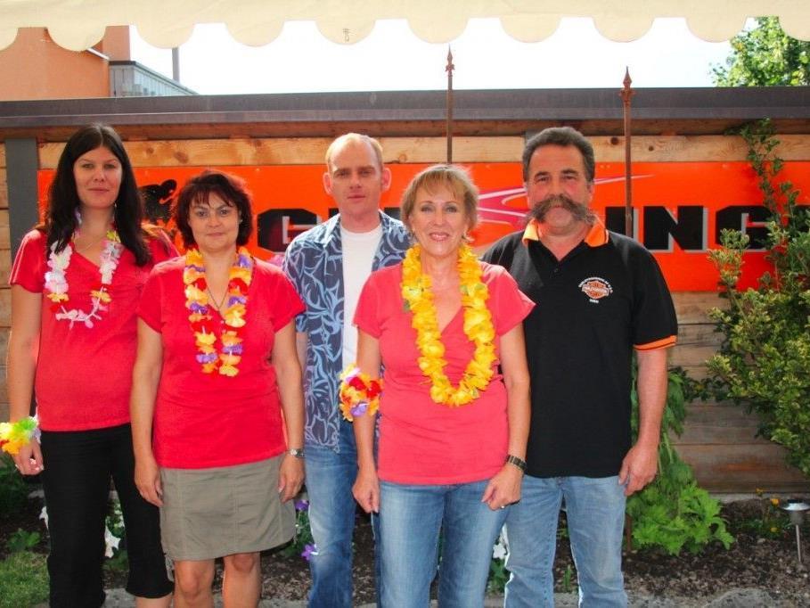 Das 6-köpfige Team um Alfred und Monika Geisinger feierte ihr 35-jähriges Firmenjubiläum