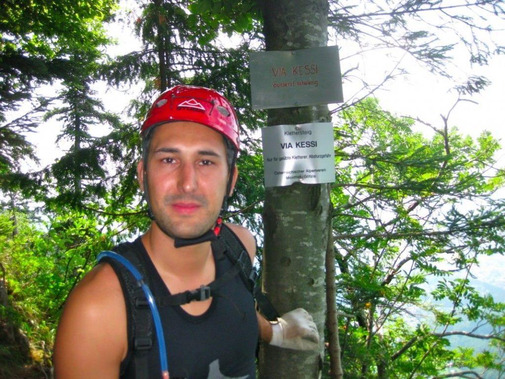 Simon Bertsch aus Lauterach liebt die Kombination aus Wandern und Klettersteig (Via Ferrata)