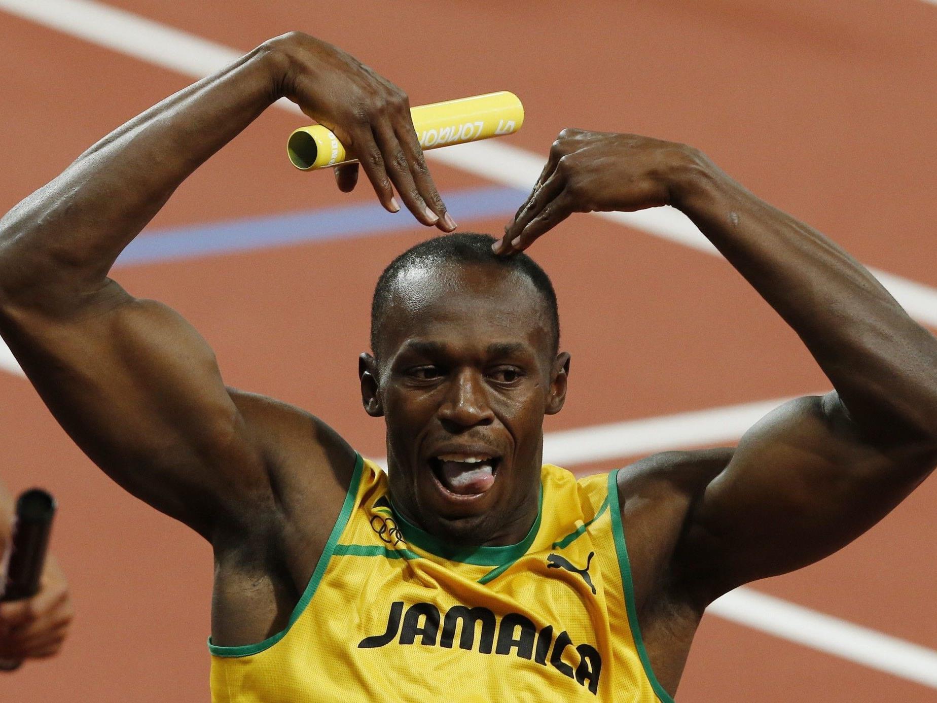 Usain Bolt, der Sprint-Star aus Jamaika, holte wie 2008 in Peking dreimal Gold.