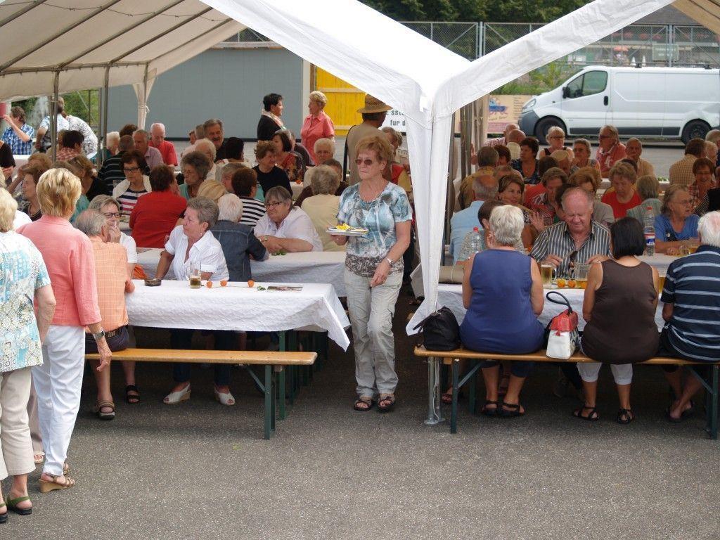 Tolle Stimmung auf dem Grillfest des PVÖ Bregenz