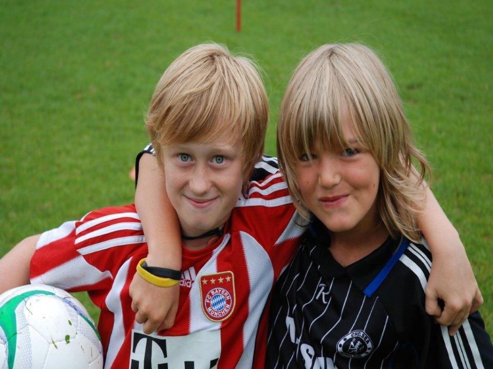 Die jungen Teilnehmer des Sommerfußballcamp auf der Birkenwiese hatten sehr viel Spaß.