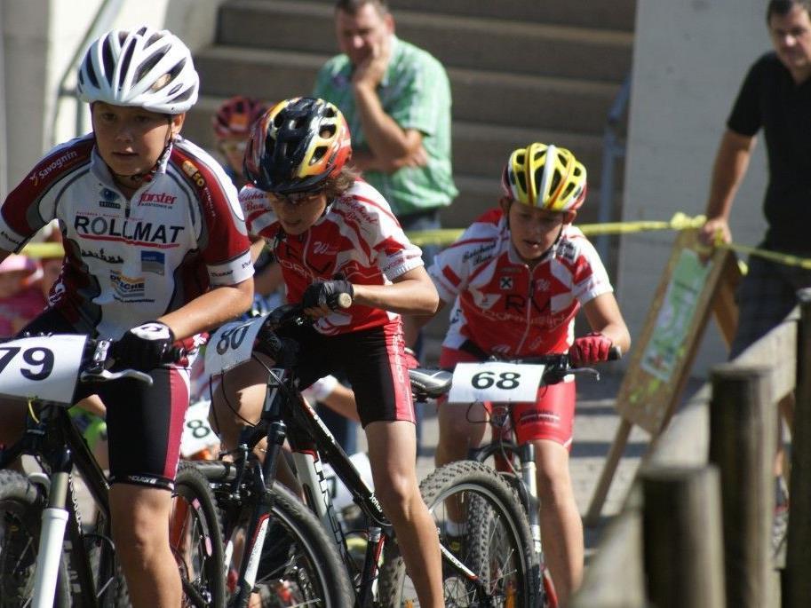 Auch der Nachwuchs zeigte beim Alpencup sein Können auf dem Bike.