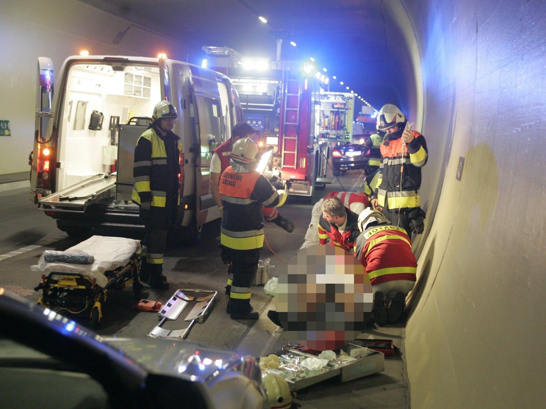Verkehrsunfall im Pfändertunnel
