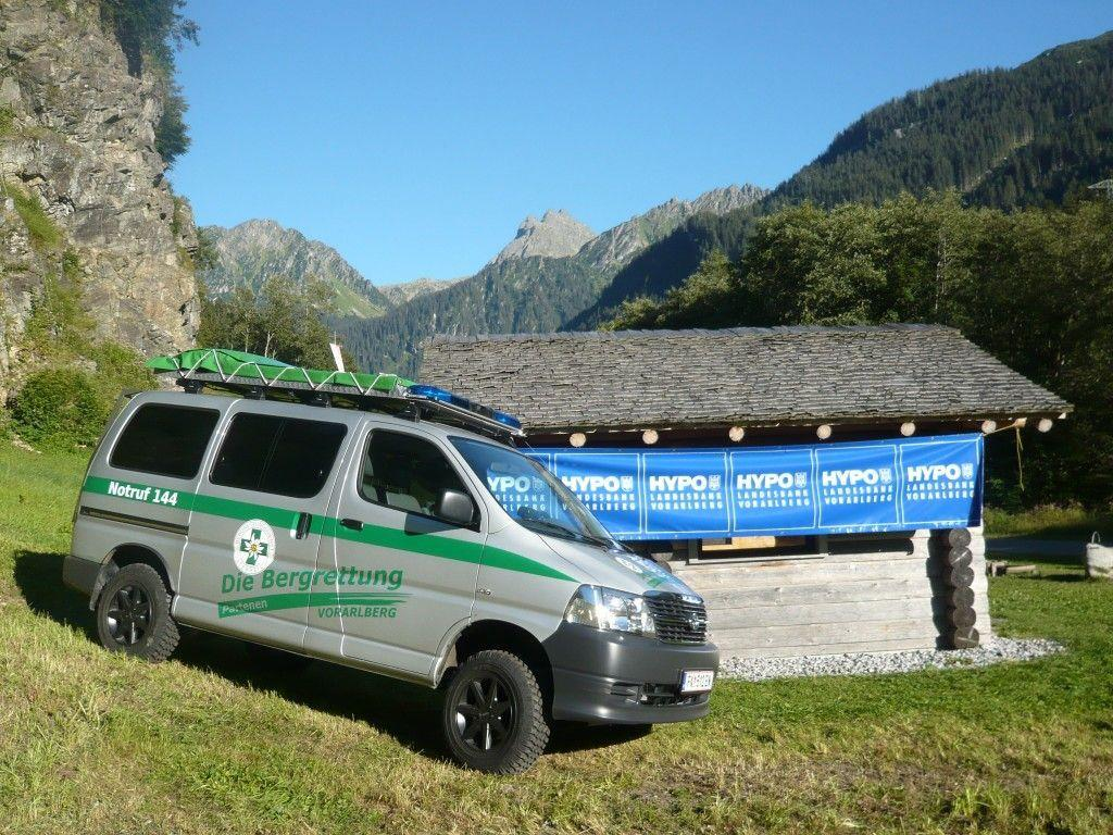 Das neue Einsatzfahrzeug der Bergrettung Partenen