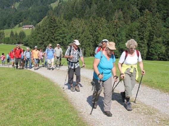 Teilnehmer der Wanderung im Lecknertal