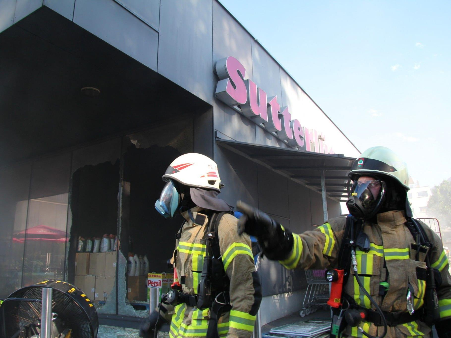 Brand in Sutterlüty-Filiale Kehlerpark verursachte Millionenschaden