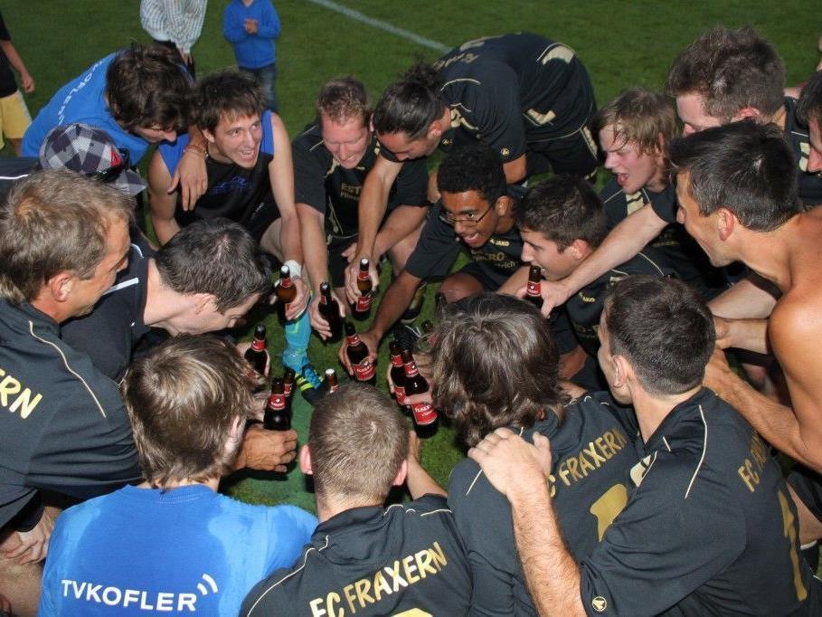 Der FC Fraxern hatte mal wieder jeden Grund zu feiern. 8:0 im Hobbyliga-Spiel gegen Viktorsberg.