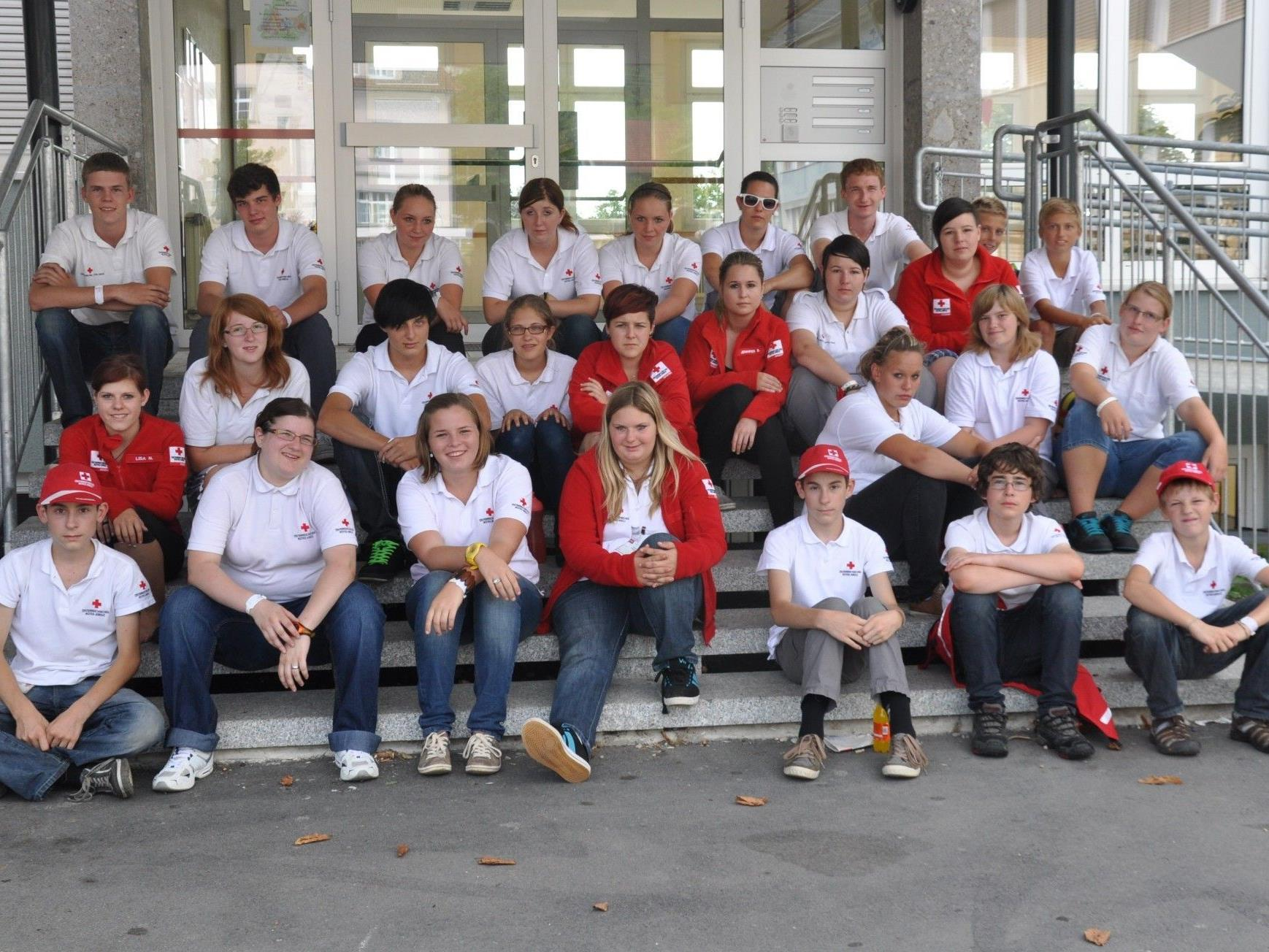 Kinder, Jugendliche und Jugendreferenten aus dem ganzen Land trafen sich beim Rot-Kreuz-Jugendcamp 2012 in Lochau am Bodensee.