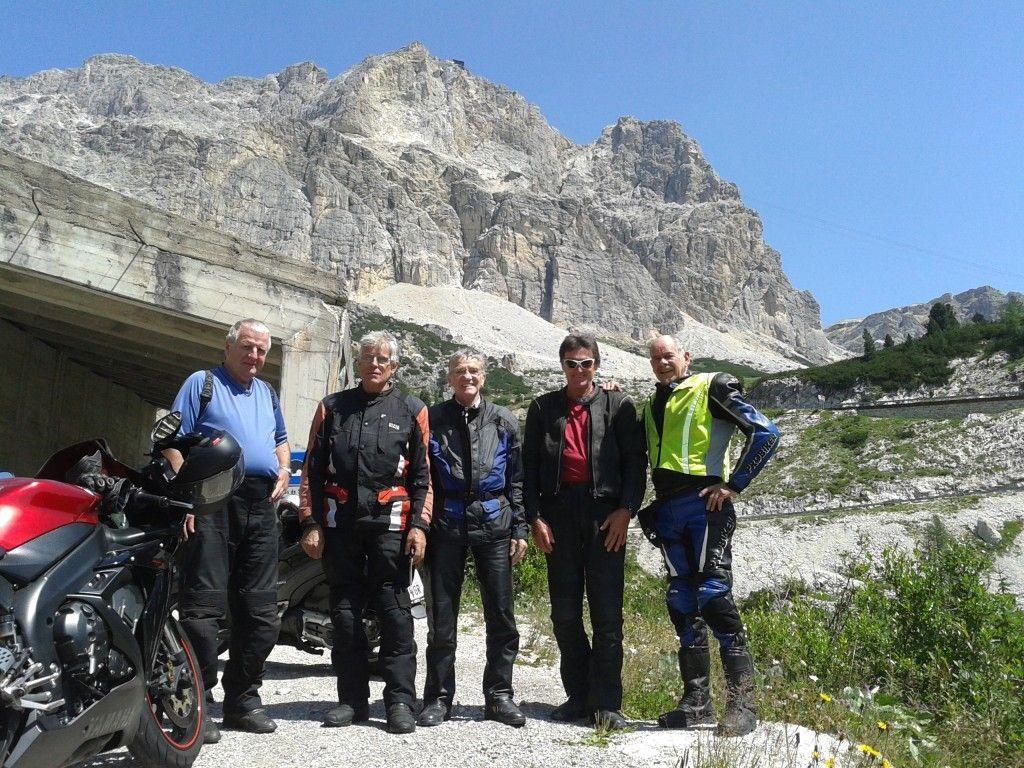 Begeisterte PVÖ-Biker auf der anstregenden Tour durch die Dolomiten