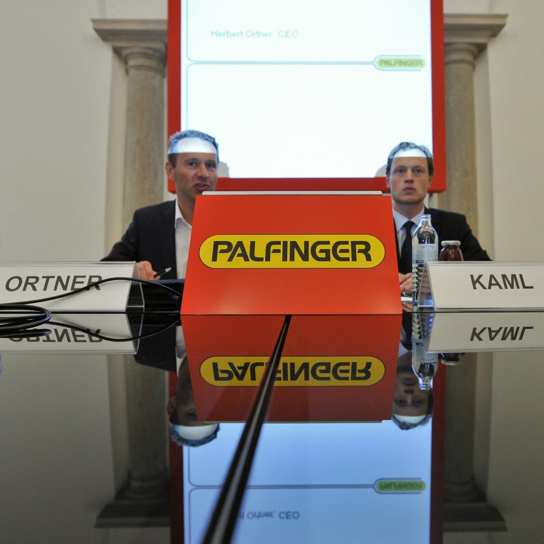 Palfinger setzt auf Wachstum außerhalb Europas. Im Bild von links: Vorstandsvorsitzender Herbert Ortner und Finanzvorstand Christoph Kaml.