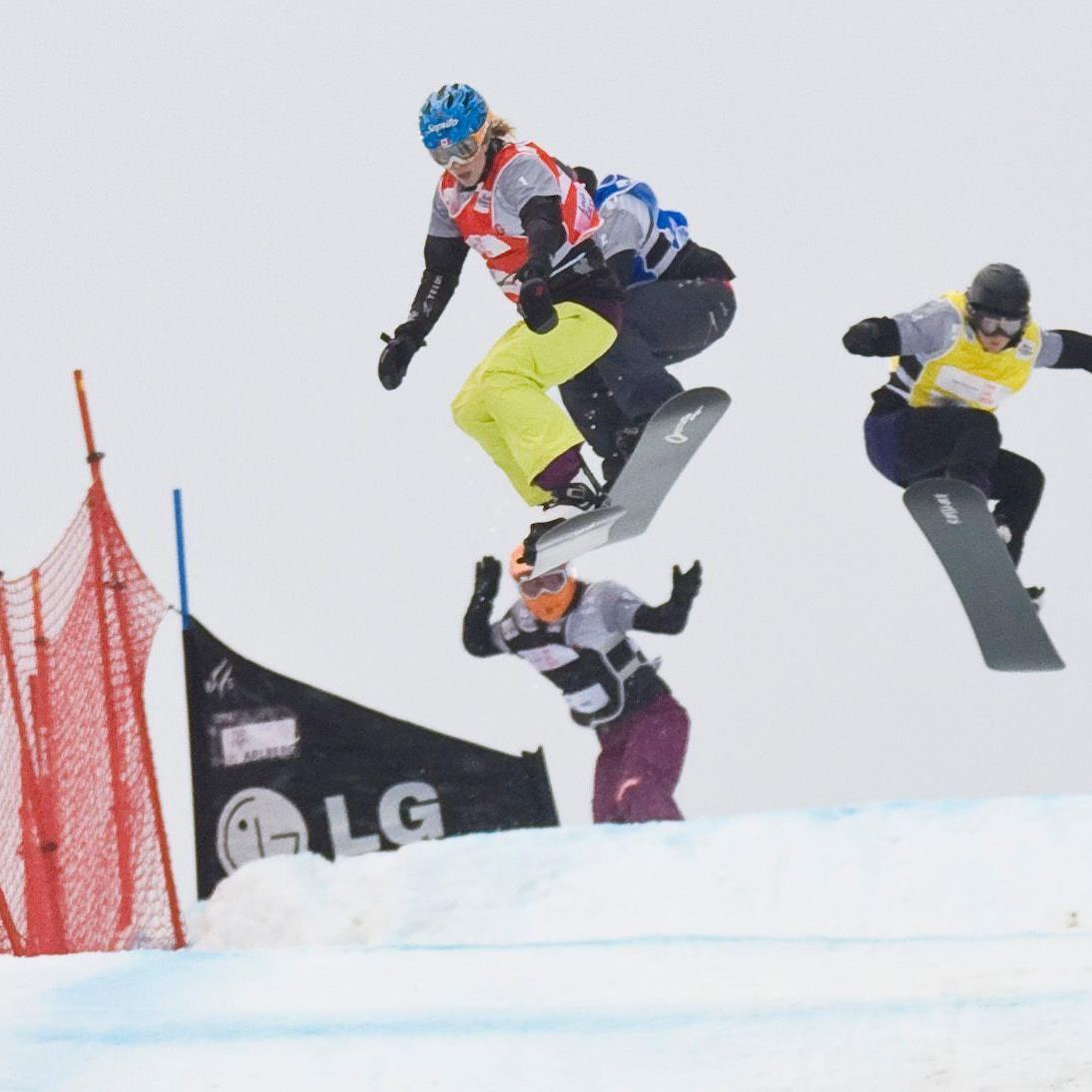 Freude bei den Sportlern - SBX-Weltcup in Schruns gesichert.
