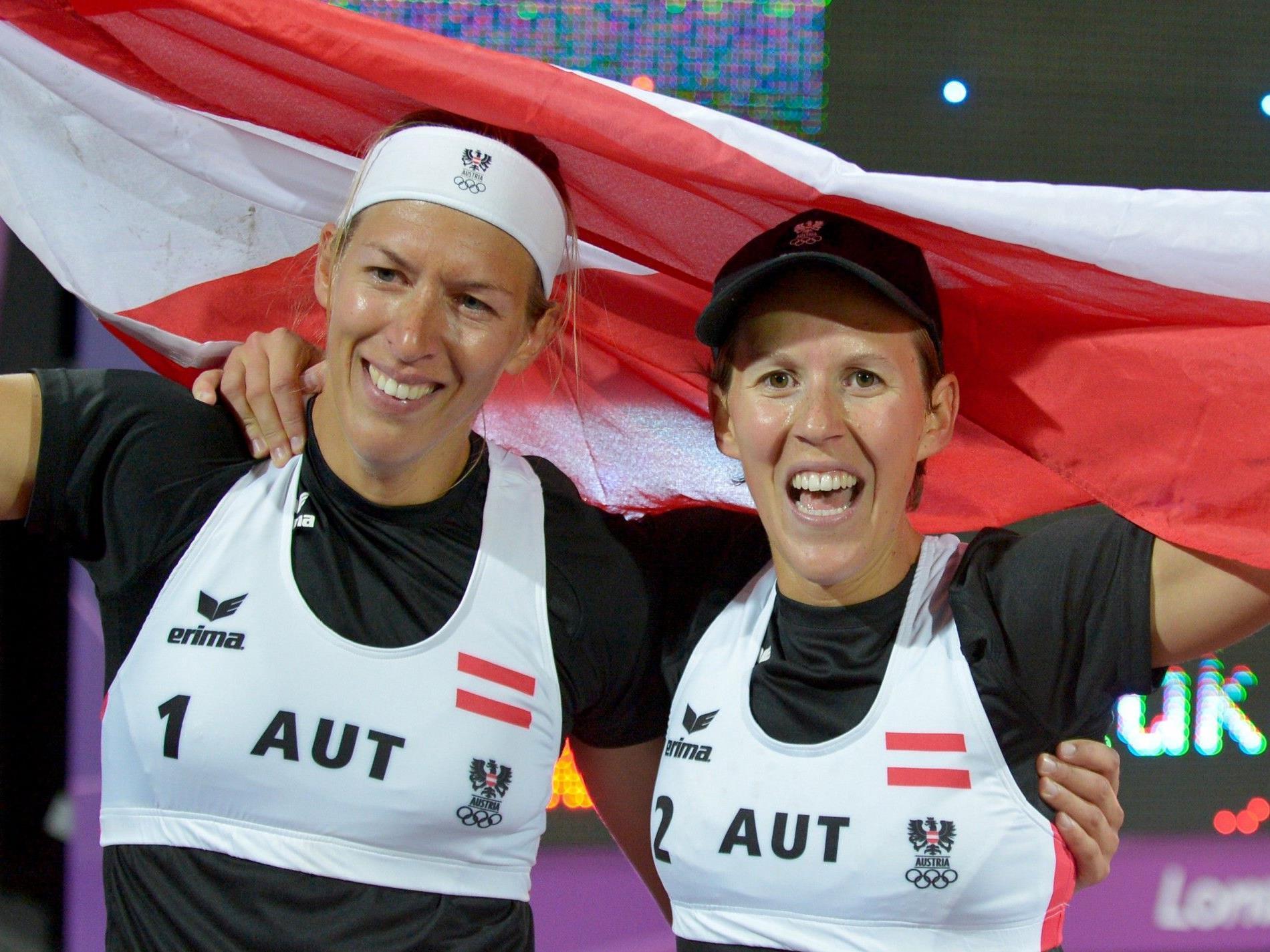 Doris und Stefanie Schwaiger lieferten im Beachvolleyball eines der Top-Ergebnisse für Österreich.