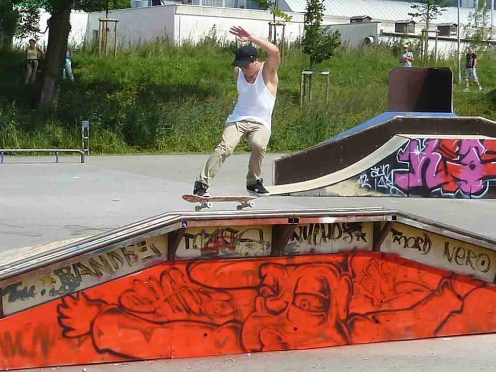 Mit dem Skater-Contest wurden die neuen Funpark-Geräte in Betrieb genommen.
