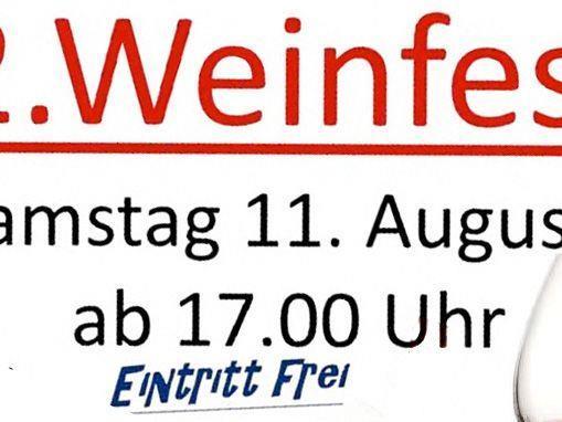 Weinfest am Samstag, den 11. August, ab 17 Uhr beim Eichenweg 4a in Gaißau