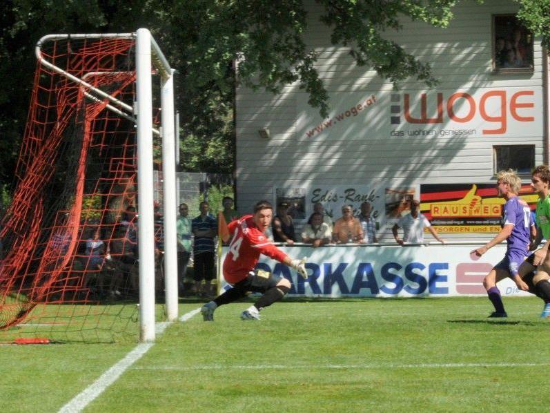 Das 1:0 für den FHE Franke FC Viktoria Bregenz in der 30. Minute