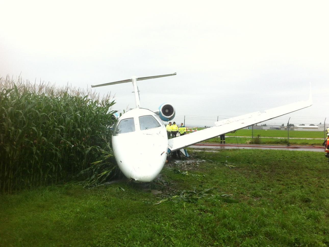 Flugzeug kam erst in einem Maisfeld zum Stillstand