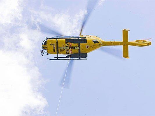 Rettungshubschrauber C8 war im Einsatz