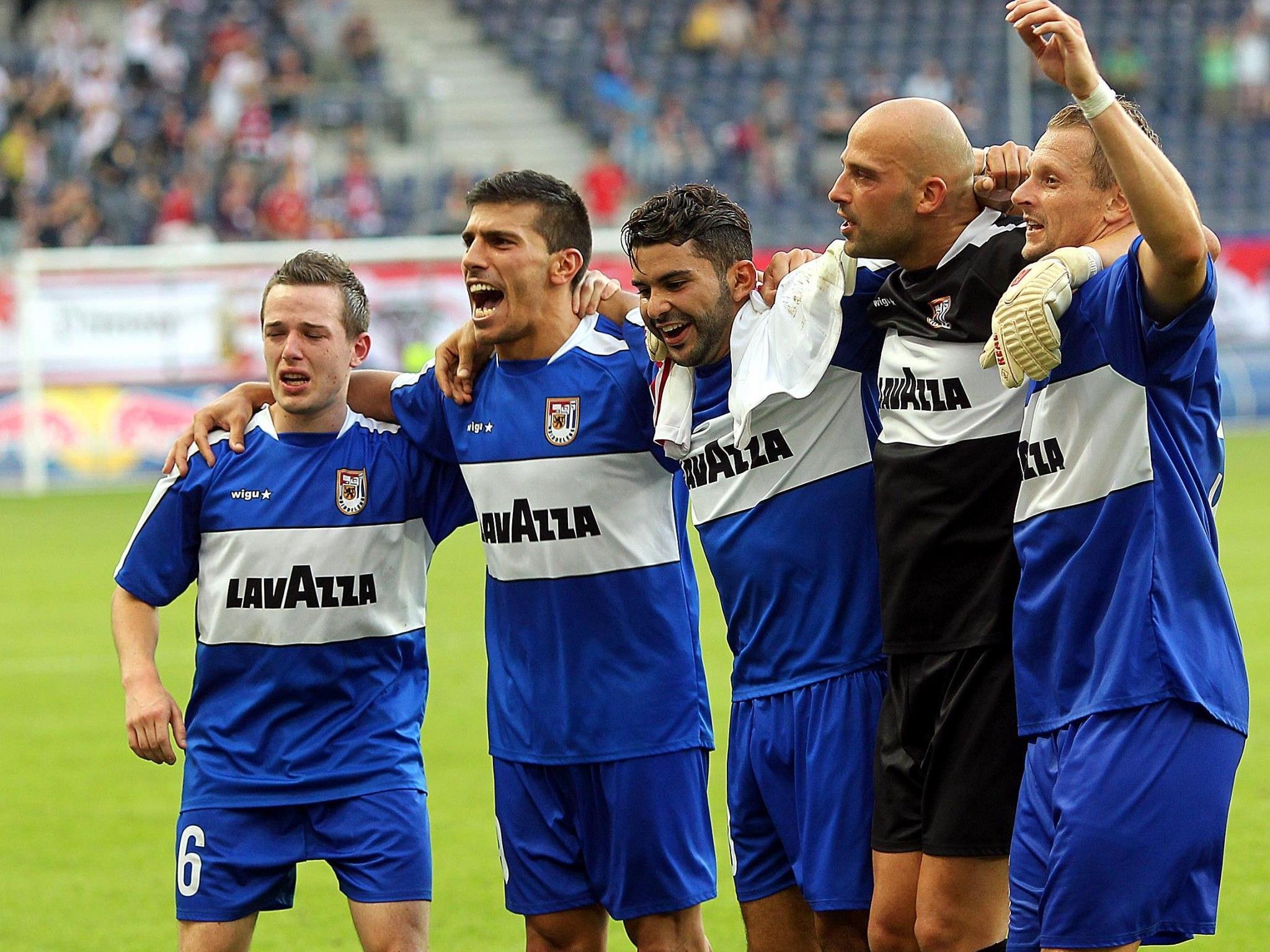 Spieler des FC Düdelingen konnten gegen Red Bull Salzburg jubeln.