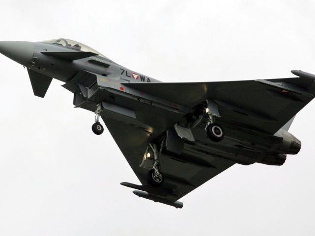 Eurofighter am Dienstag im Einsatz