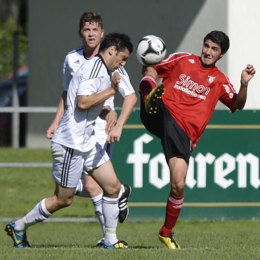 Mäder-Kicker Tolga Yildiz spielte im Mittelfeld, die Hausherren siegten verdient mit 1:0.