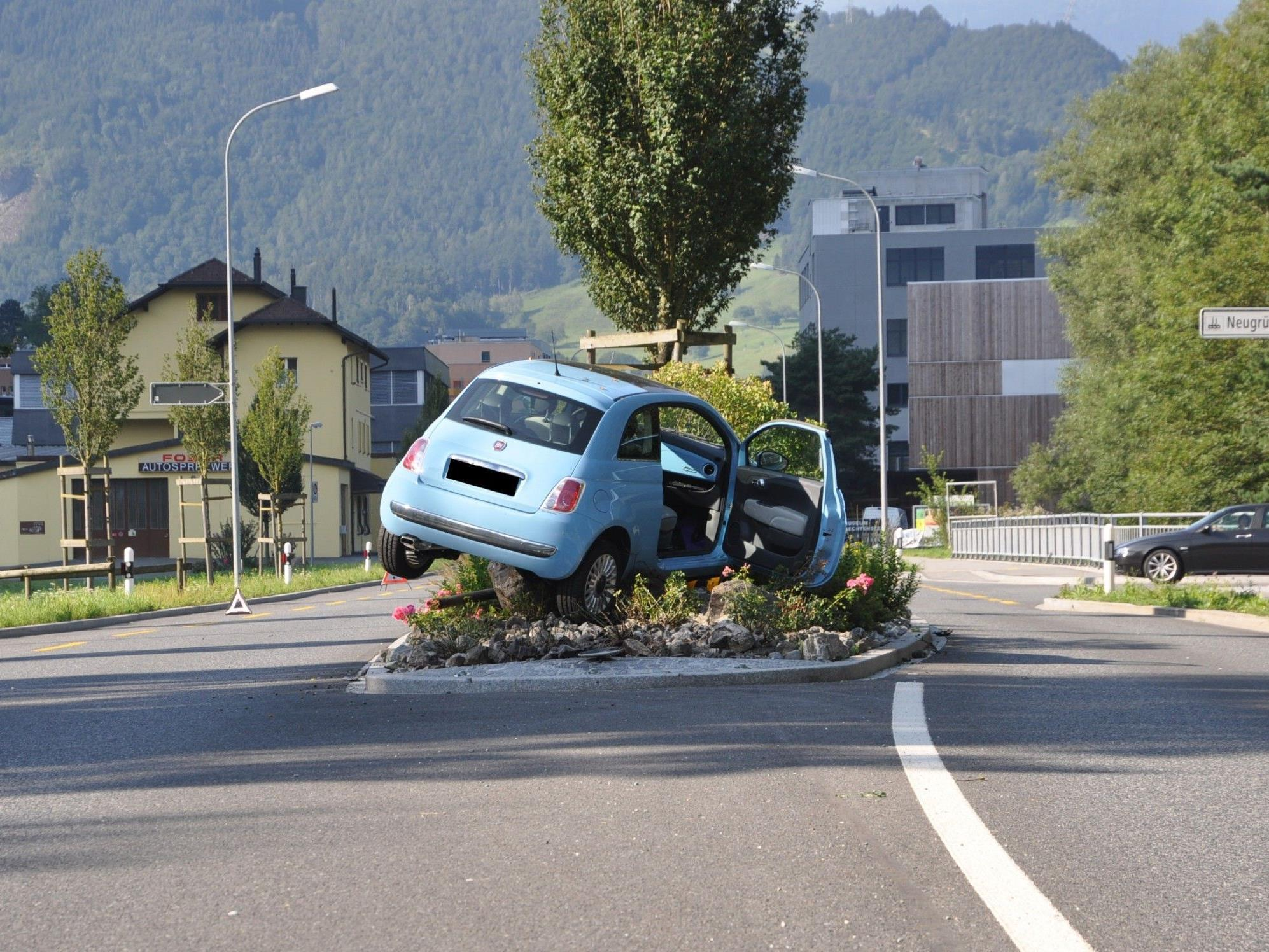 Spektakulärer Unfall in Balzers