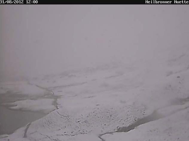 Bei der Heilbronner Hütte im Montafon liegt bereits Schnee.