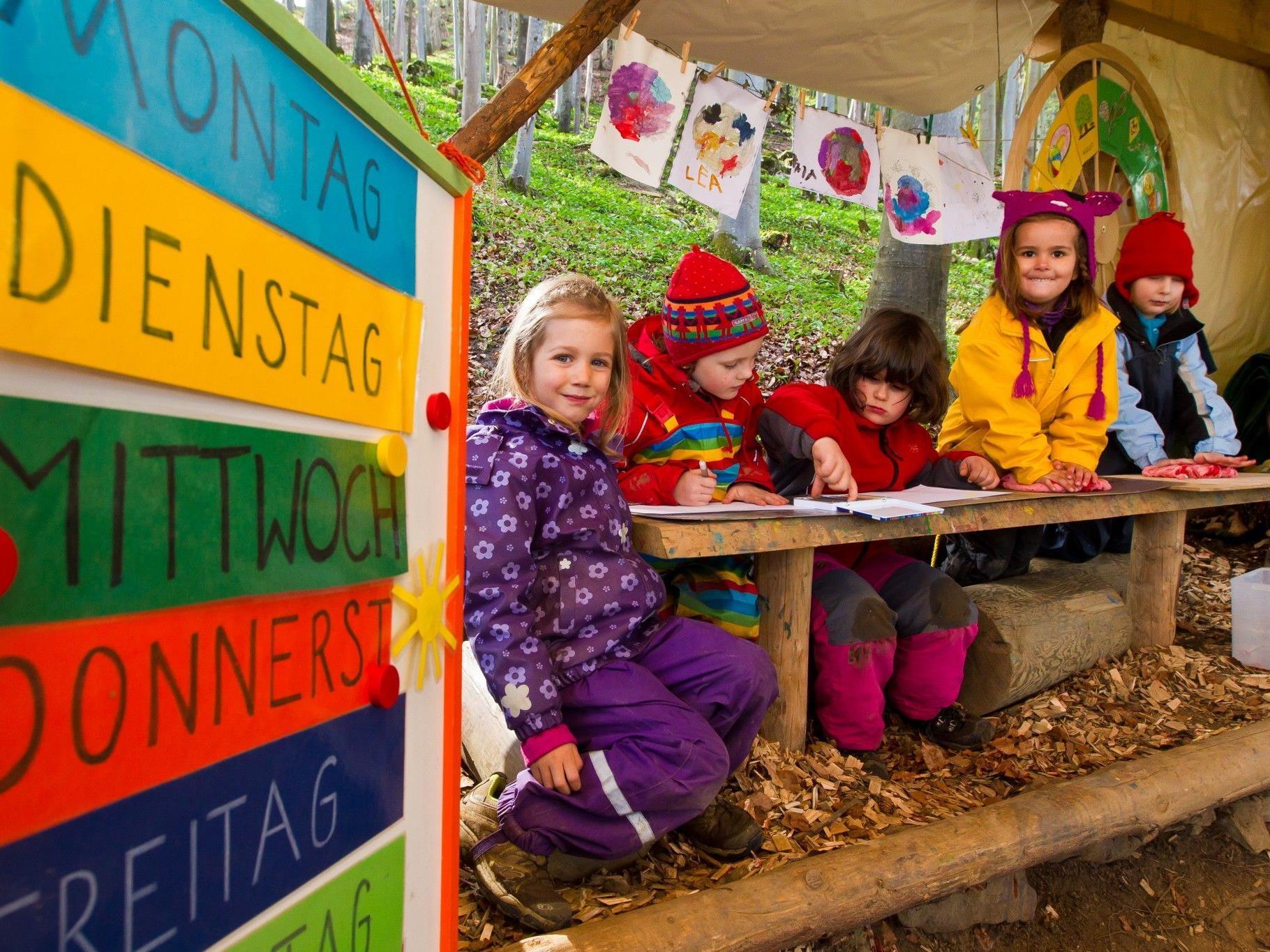 Kernzeiten in Kindergärten, nicht aber an Volksschulen.