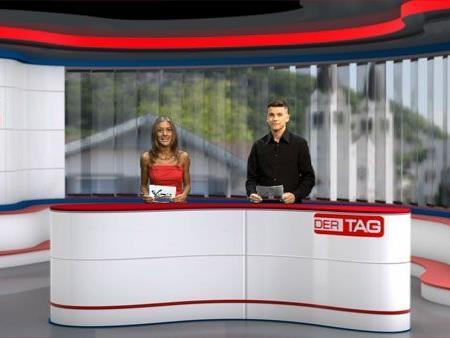 Das Moderatoren-Team von Ländle TV: Bianca Oberscheider und Marc Gächter.
